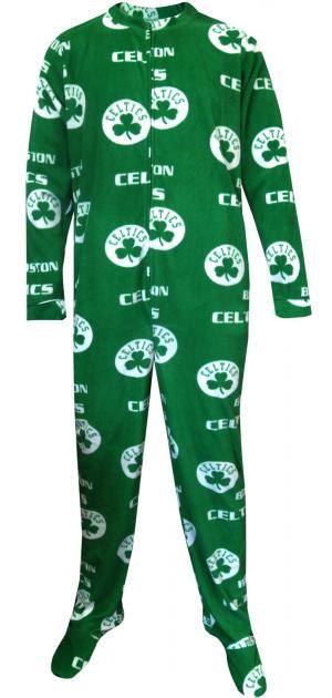 cfa64f1878 WebUndies.com Boston Celtics Guys One Piece Footie Pajama