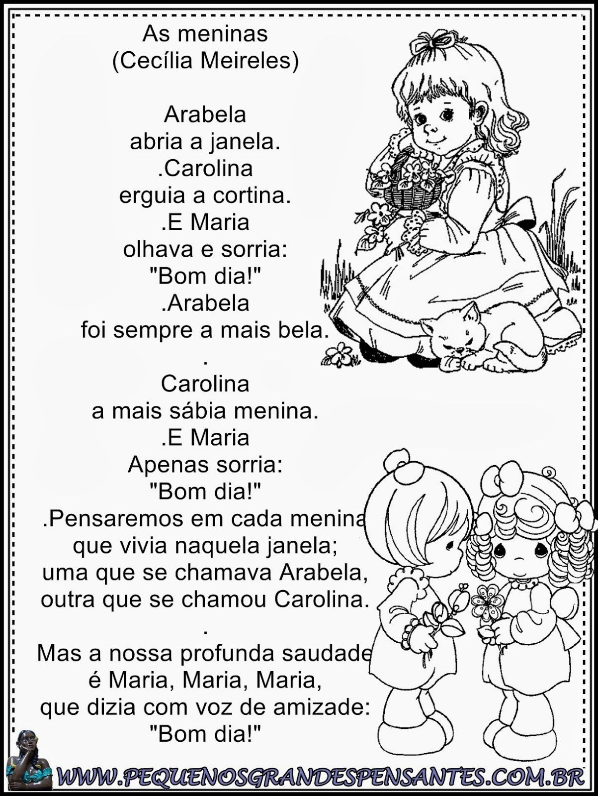 Top poema as meninas cecília meireles - Pesquisa Google   Coisas para  LY68