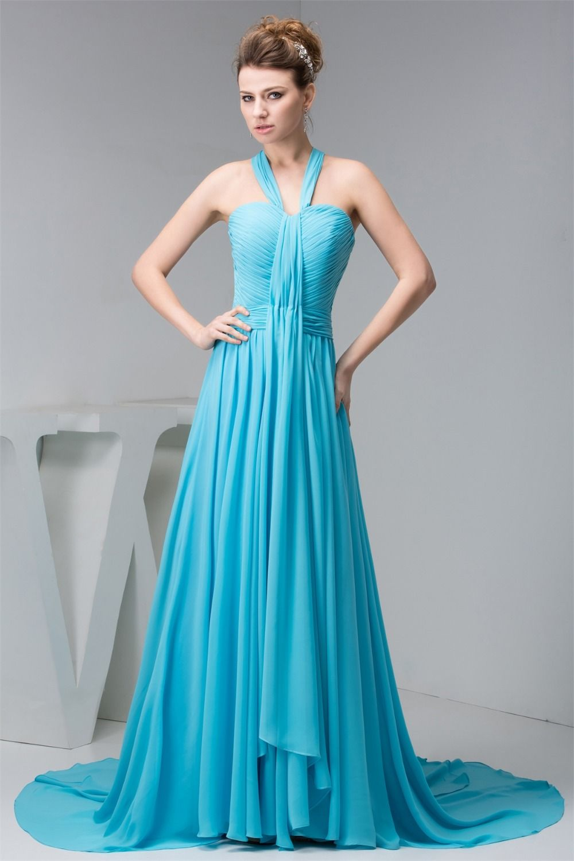 asymmetrical Sweep Train Halter sleeveless Pleat , Best prom dresses ...