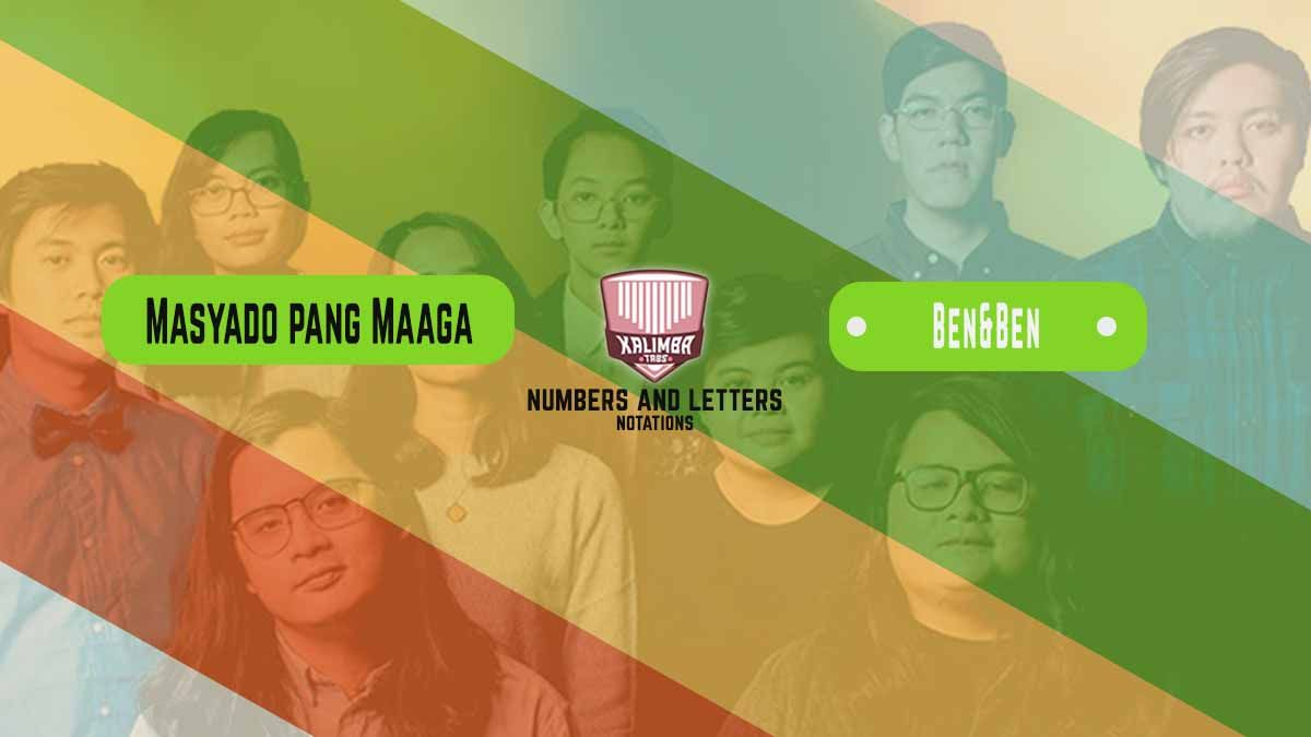 Masyado Pang Maaga Kalimba Tabs Numbers And Letters Notation Notations Letters Songs