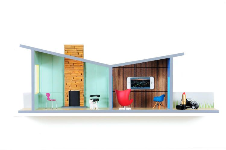 """Look at this Little Thing! - These""""Floating House Shelves"""" are designed by..."""