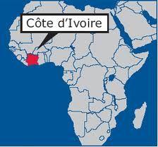 Location of Cote dlvoire Cote dIvoire Africa Pinterest Maps