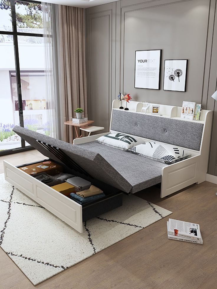 Bedroom Interior Small Sleeping Sofa Bed Furniture In 2020 Sofa Bed For Small Spaces Bedroom Interior Beds For Small Spaces