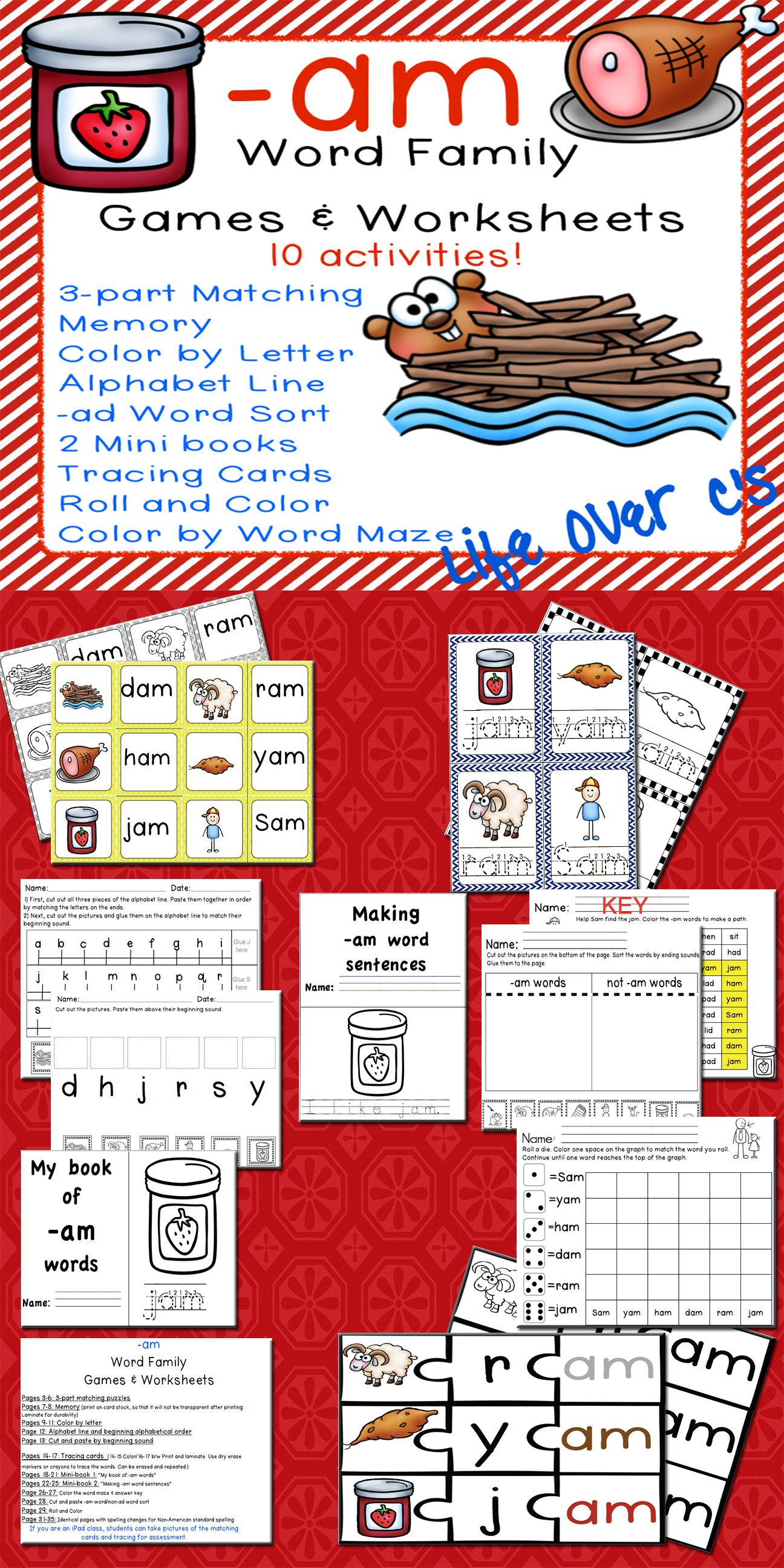 Cvc Ag Word Family 10 Engaging Activities For Students