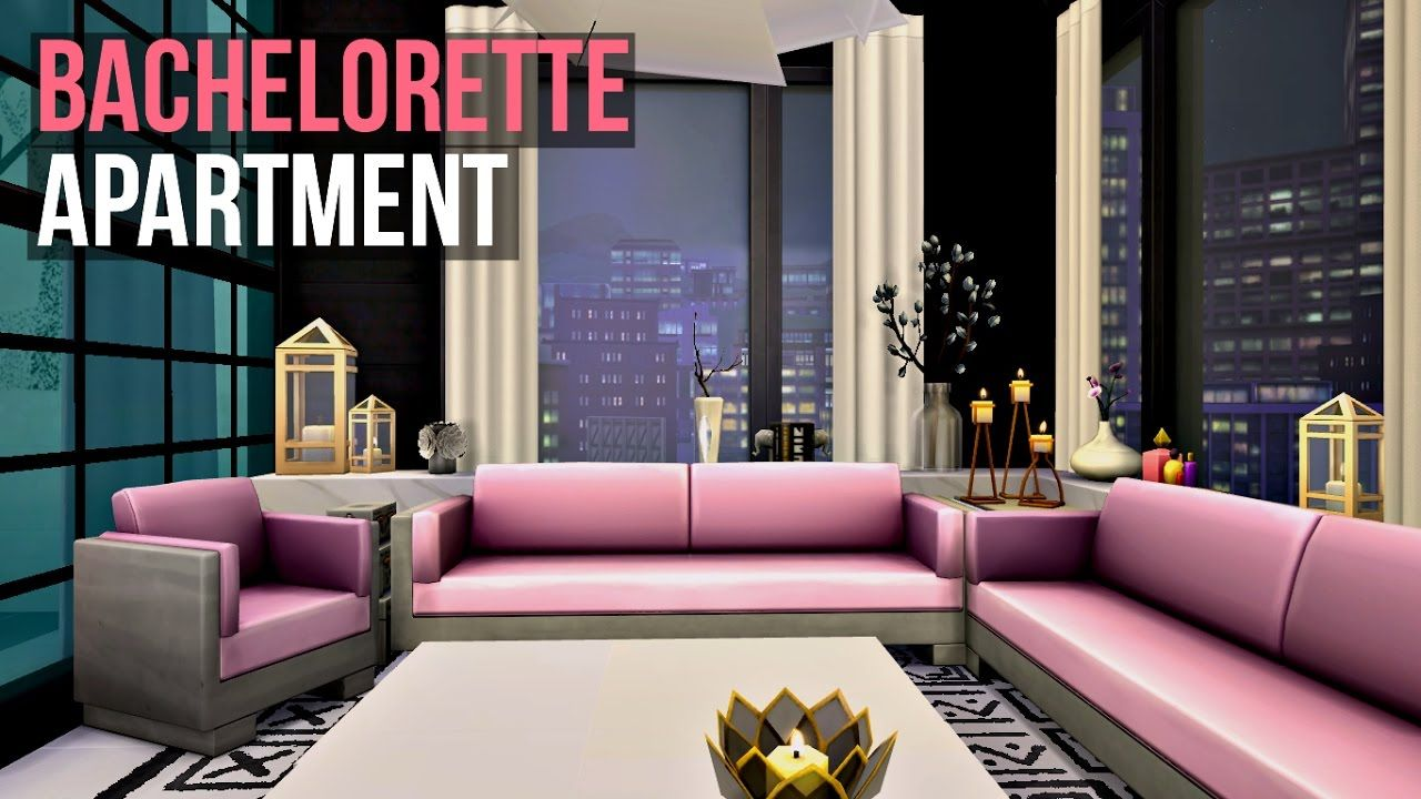 Bachelorette Apartment BACHELORETTE APARTMENT - Sims 4 | Interior Design