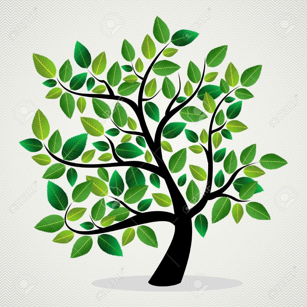 Fundo Amigavel Do Projeto Da Arvore Do Eco Verde Da Folha Arquivo Em Camadas Para Facil Manipulacao E Coloracao Personalizada Abstracte Bomen Stamboom Kunst Groene Bomen