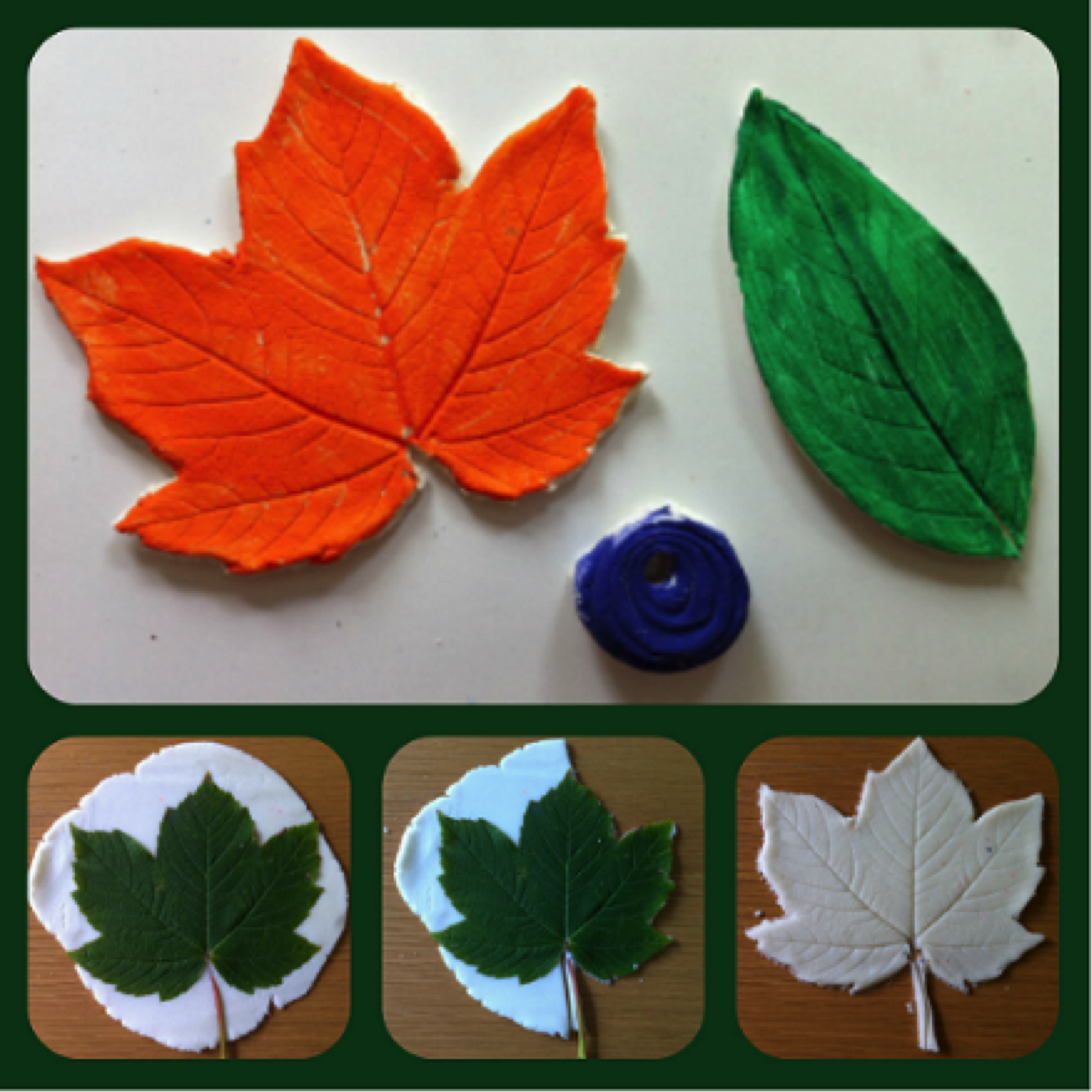 Impressing leaves on #ceramics. A #fun activity for your #kids or a creative #decoration for your living room. #turkishceramics