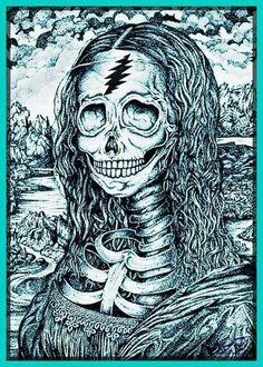 grateful dead the dead mona lisa hippies artsy fartsy bones - Grateful Dead Coloring Book