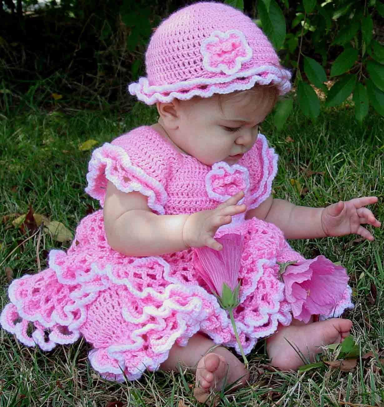 Savannah Ruffled Baby Set Crochet Pattern | Tejido, Bebé y Bebe
