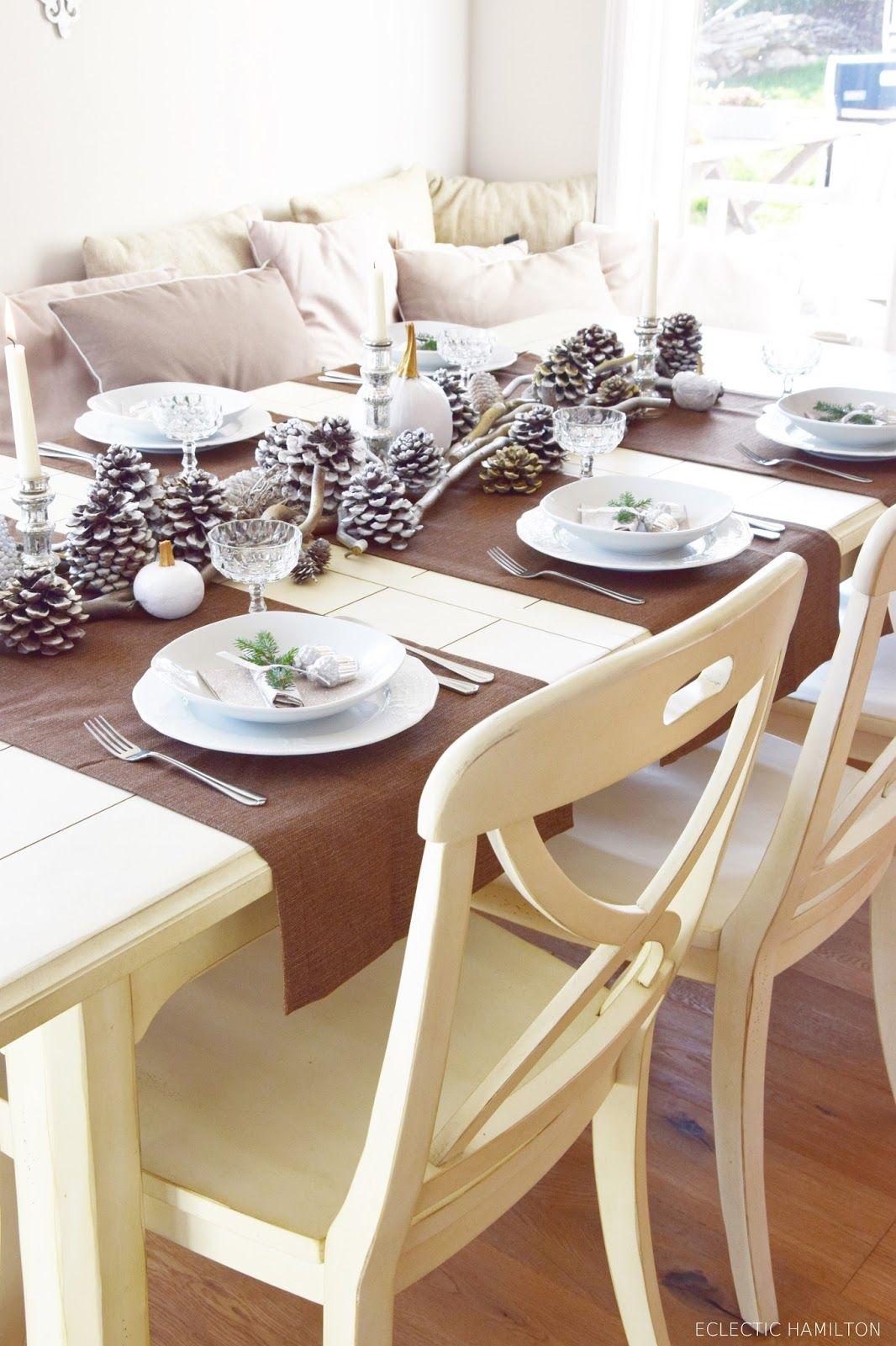 Winterlich Festliche Tischdeko Mit Naturmaterialien Mein Blog