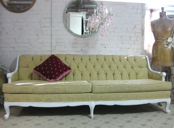 Image Detail For Beautiful French Provincial Tufted Sofa By Paintedcottages On Etsy