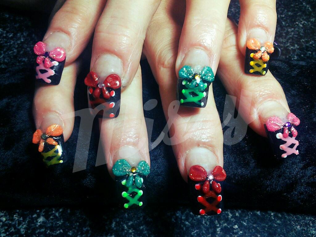 3d Bow Nail Designs 104 Things Glossin Nails Likes Explore More