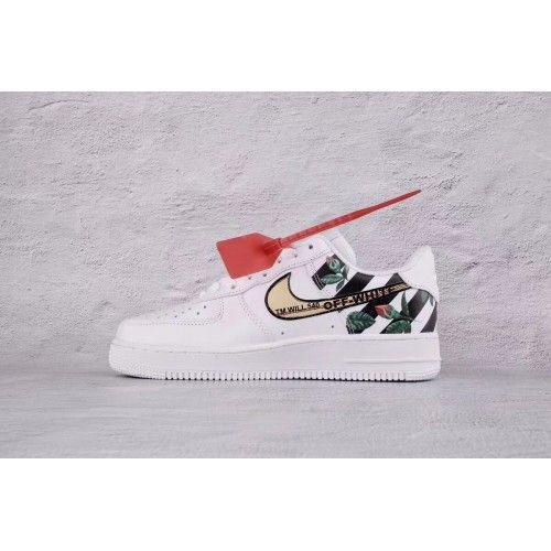 lowest price 47af4 a1305 OFF-White X Nike Sko - Billige OFF White X Nike Air Force 1 AF1 Hvid Sko  Outlet