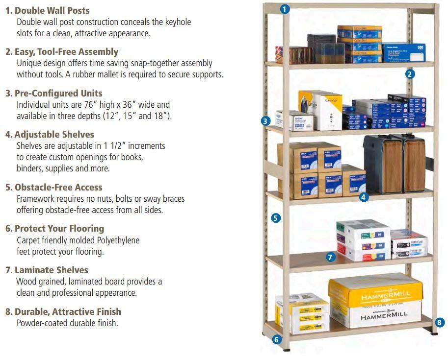 Regal 6 Shelf Shelving Unit Starter Shelves Wood Shelving Units Shelving Design