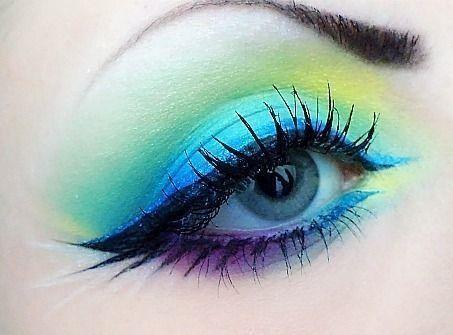 Peacock Inspired Dramatic Eye Makeup Ideas   Peaco