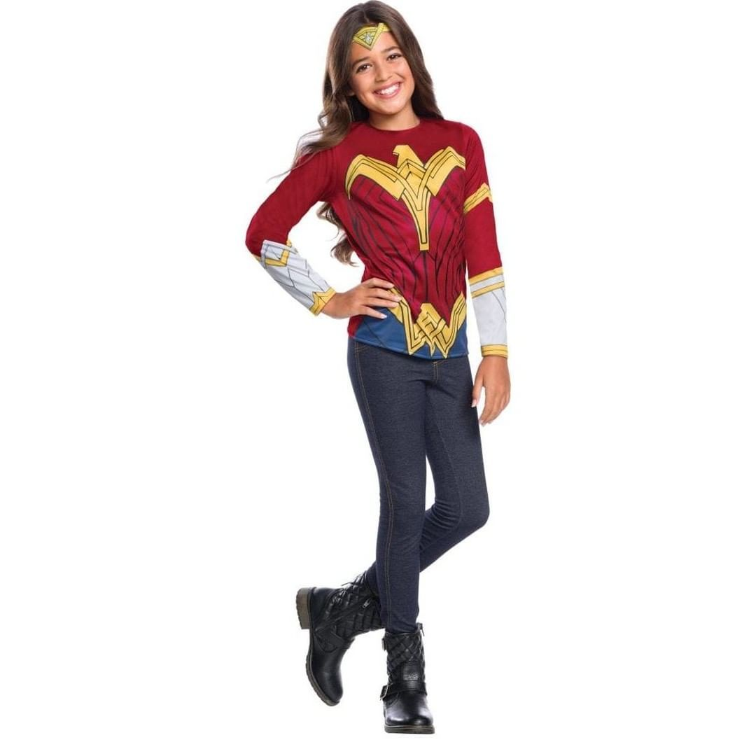 Photo of Kids Wonder Woman Justice League Costume Top  License: Justice League   Shop 100