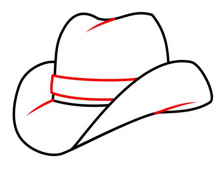 Drawing A Cartoon Cowboy Hat Cowboy Hat Drawing Cowboy Drawing Cowboy Hats