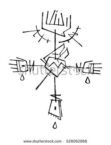 Hand Drawn Vector Illustration Or Drawing Of Jesus Christ Cross With