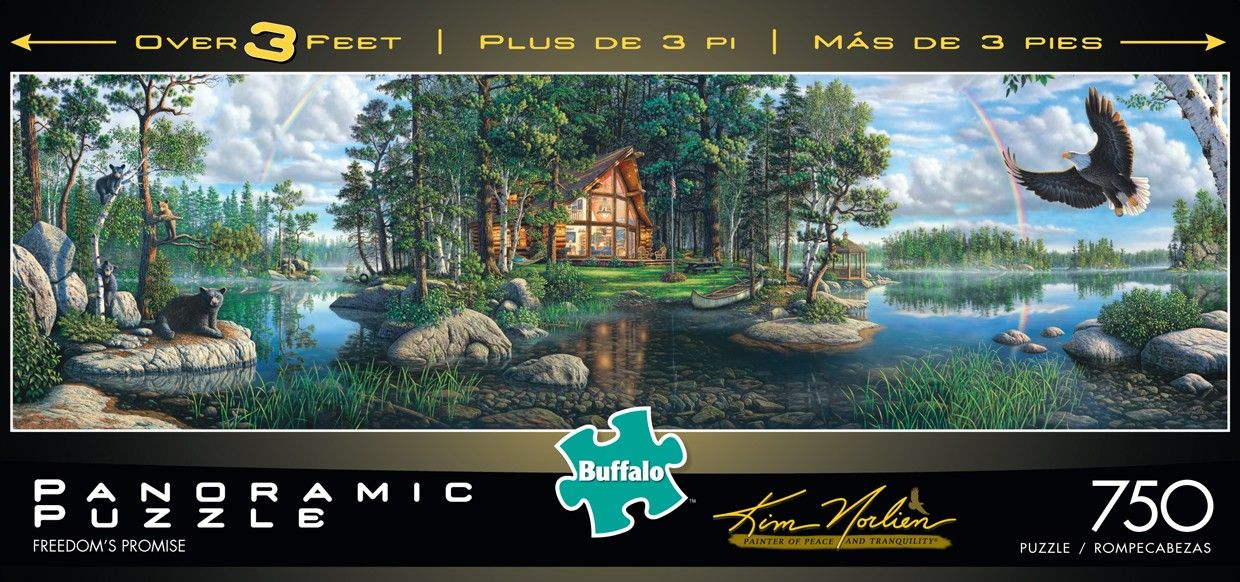 buffalo games freedoms promise by kim norlien panoramic jigsaw puzzle