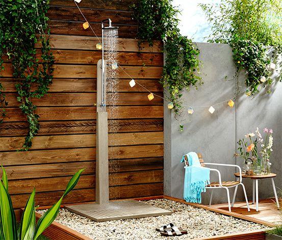 199 00 Manchmal Ist Es Zu Einer Willkommenen Erfrischung Nur Ein Kleiner Schritt Diese Gartendusche Gartendusche Hinterhof Terrassen Designs Ikea Outdoor