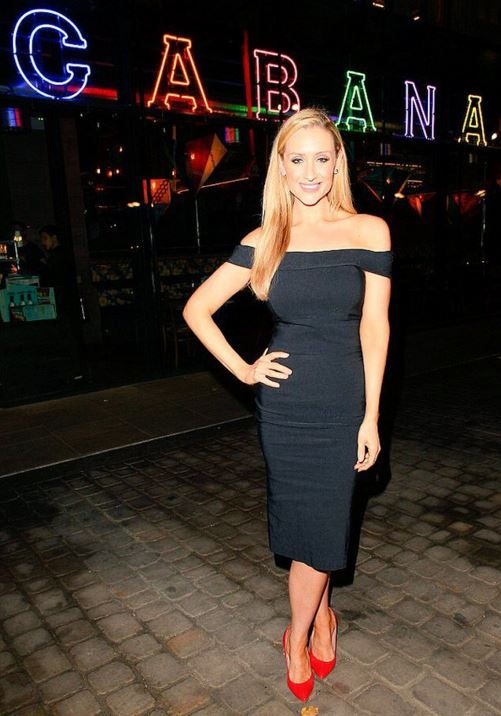 daca8f638c Catherine Tyldesley steps out in The Pretty Dress Company s Thea Pencil  Dress  fashion  style  celeb  celebstyle  celebrity  celebritystyle  LBD ...