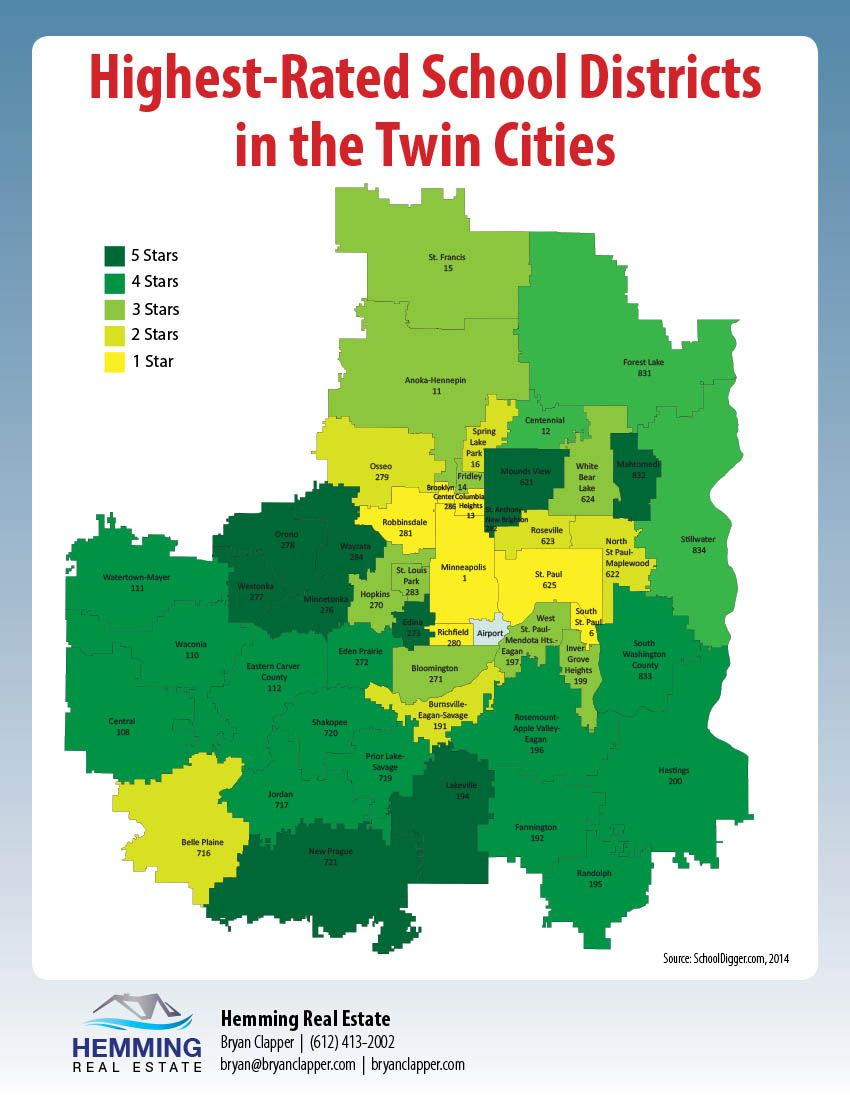 School district ratings around the Twin Cities I