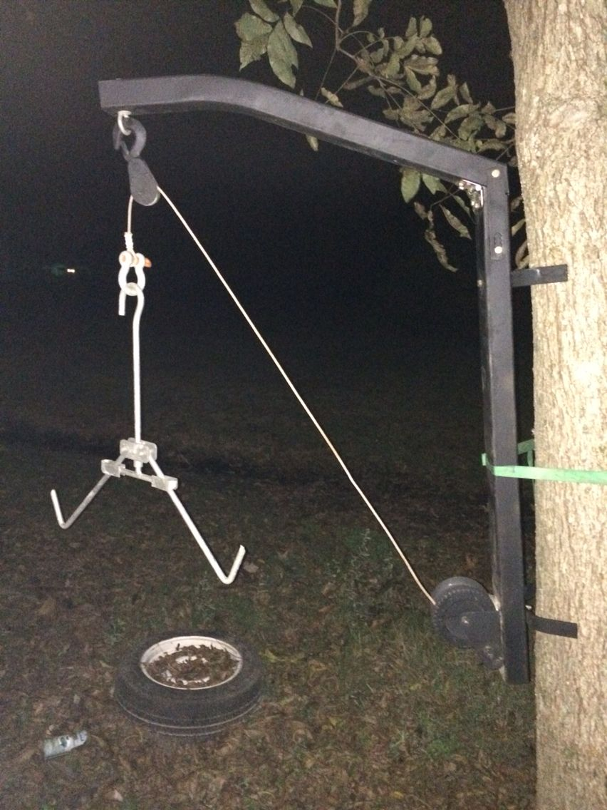 Deer skinning pole plans - My Portable Deer Cleaning Station