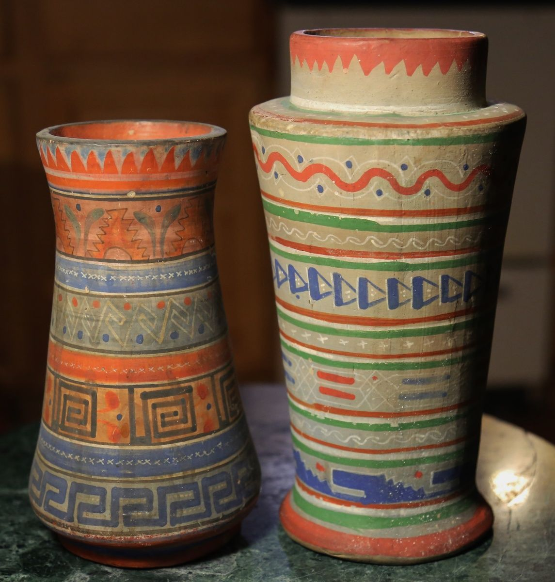 Aztec pattern of tonala pottery two vases collectors weekly pottery reviewsmspy