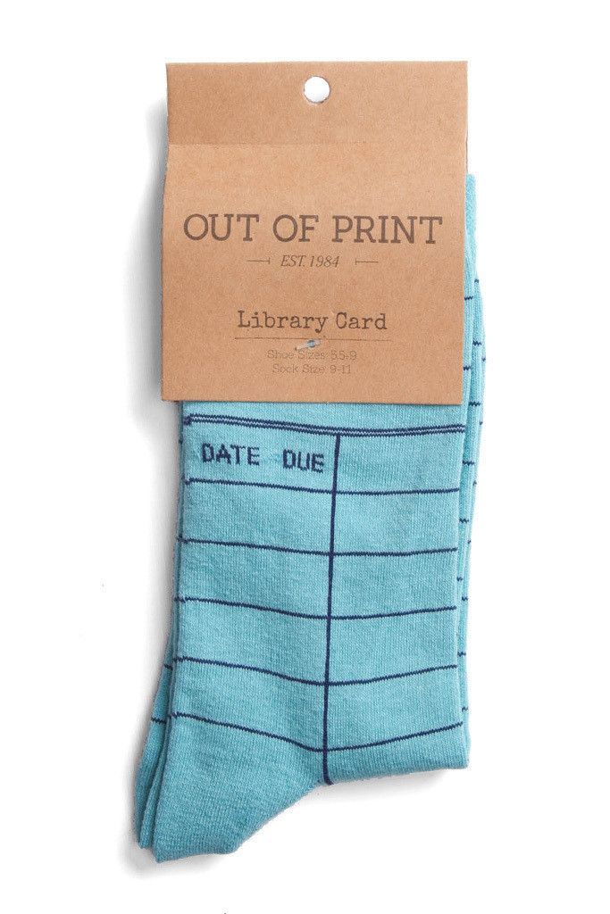 Book | 著作 | книга | Livre | Libro | Read | 読む | Lire | читать | Leggere | Leer | Reading | Imagination | AOut of Print - Library Card Socks