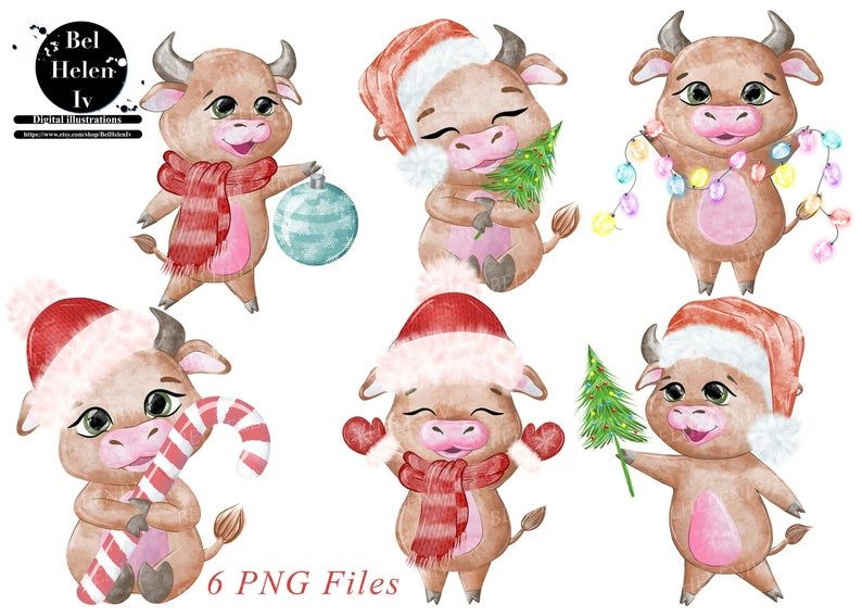 Symbol bull 2021 clip art children 's illustration cute