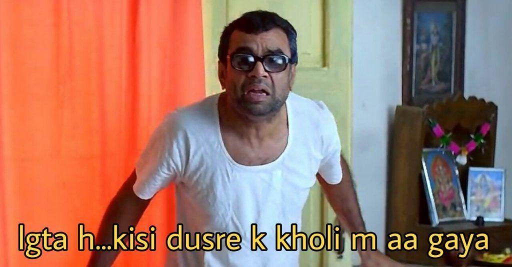 Hera Pheri Meme Templates Indian Meme Templates In 2020 Meme Template Funny Dialogues Bollywood Memes