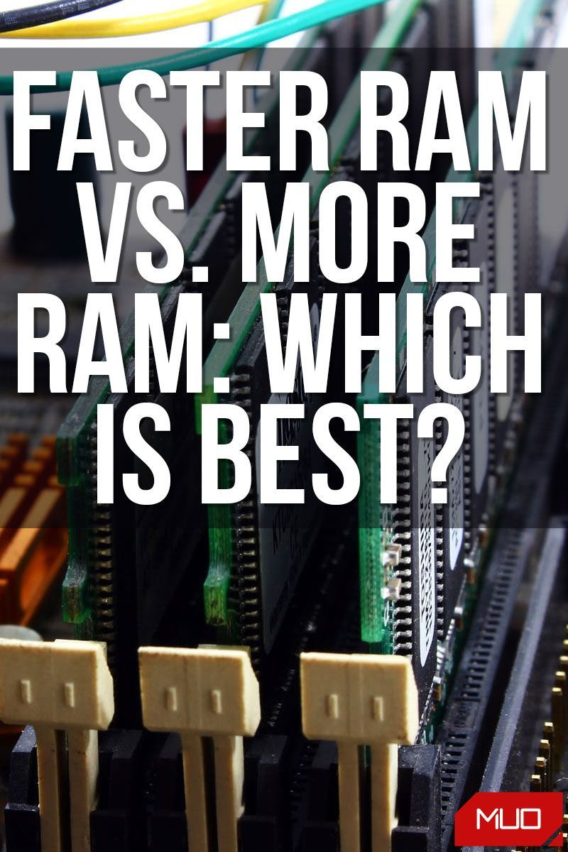Faster Ram Vs More Ram Which Is More Important For Performance Ram This Or That Questions Good To Know