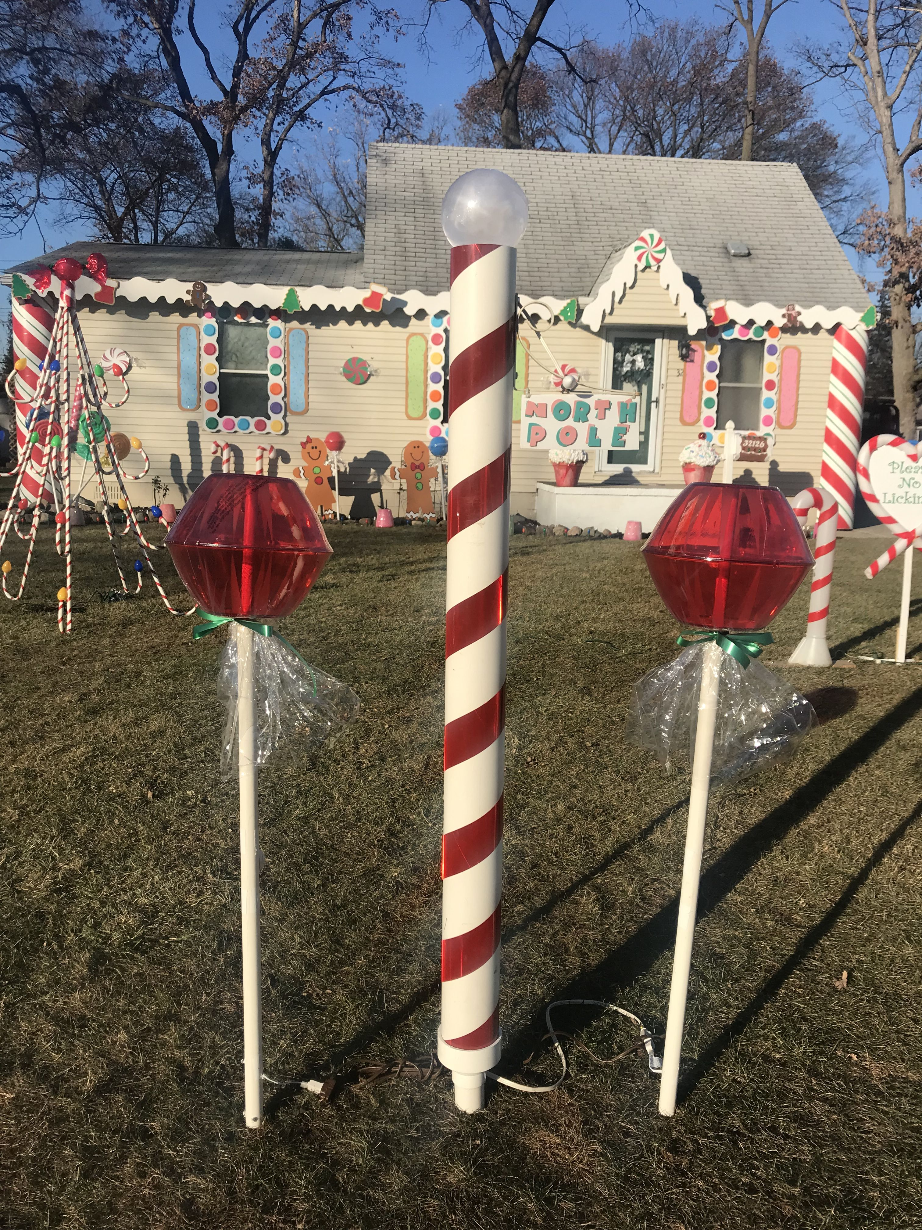 Christmas Decoration Gingerbread House Diy Lollipop Suckers