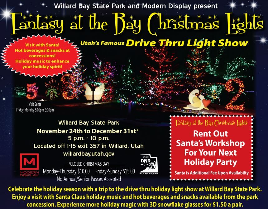 Willard Bay Lights Stunning Willard Bay Christmas Lights  Drive Thru Lights  Family Fun In Design Decoration