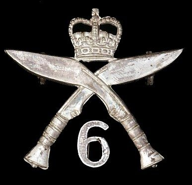 6th Queen Elizabeth's Own Gurkha Rifles Cap Badge