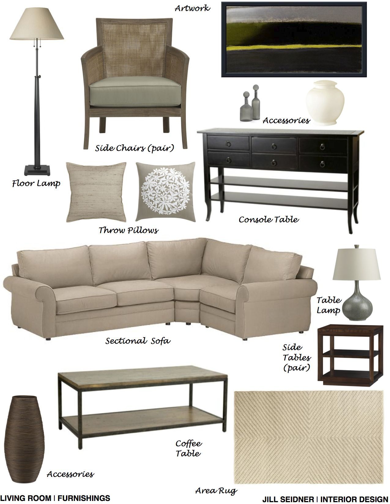Raleigh Nc Online Design Project Living Room Furnishings Concept Board Interior Design Interior Design Boards Classy Living Room