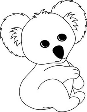 Cute Koala Coloring Pages Bear Coloring Pages Koala Craft Koala