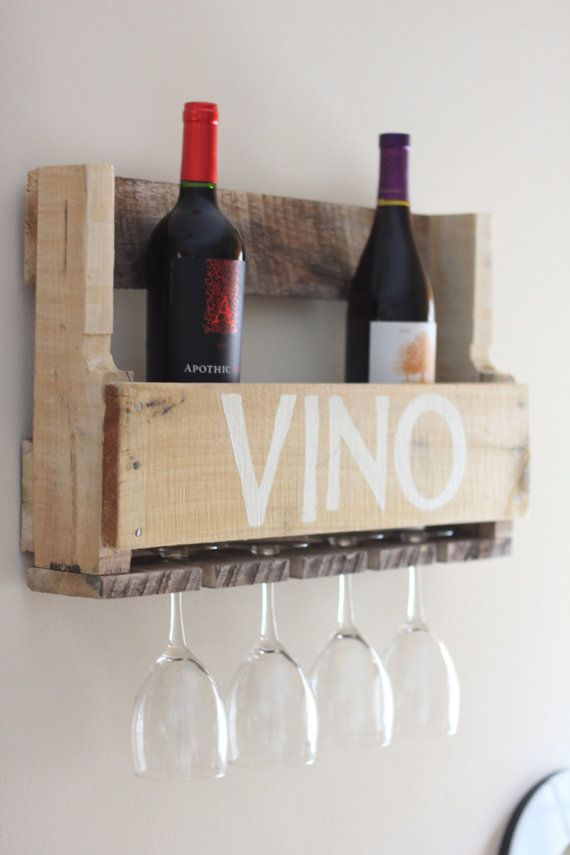 Pallet Wine Rack PERSONALIZED Custom by TheSalvagedBoutique, $45.00