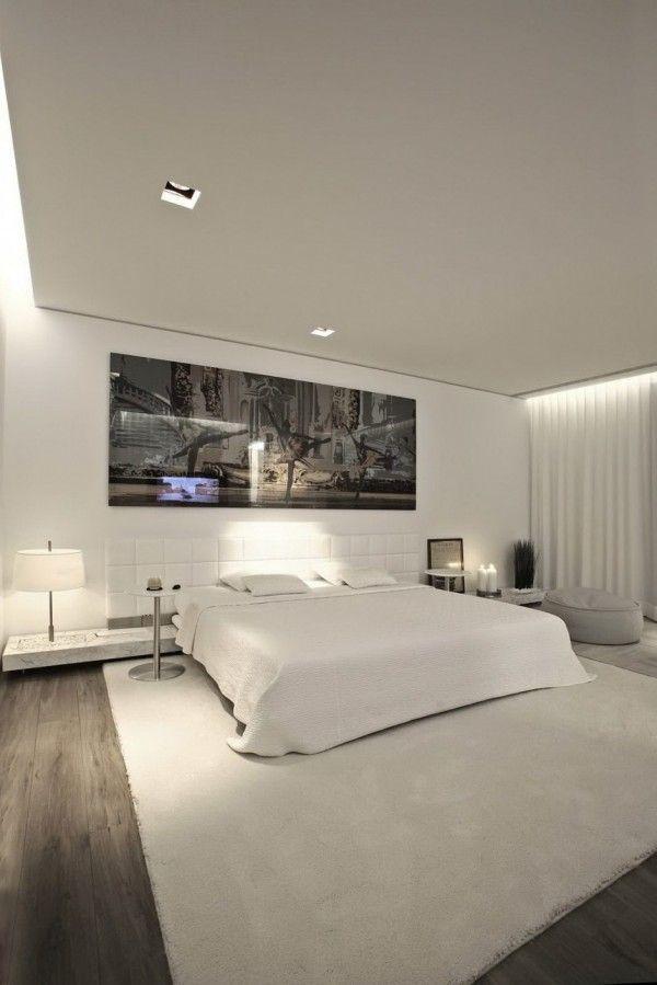 Elegant Large White Bedroom