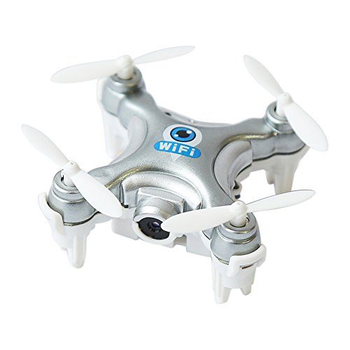 Scastoe Cheerson Cx10w Mini Wifi Fpv With Camera 24g 4ch 6 Axis Led Rc Quadcopter Silver To View Further For This Item V Mini Drone Nano Drones Drone Camera