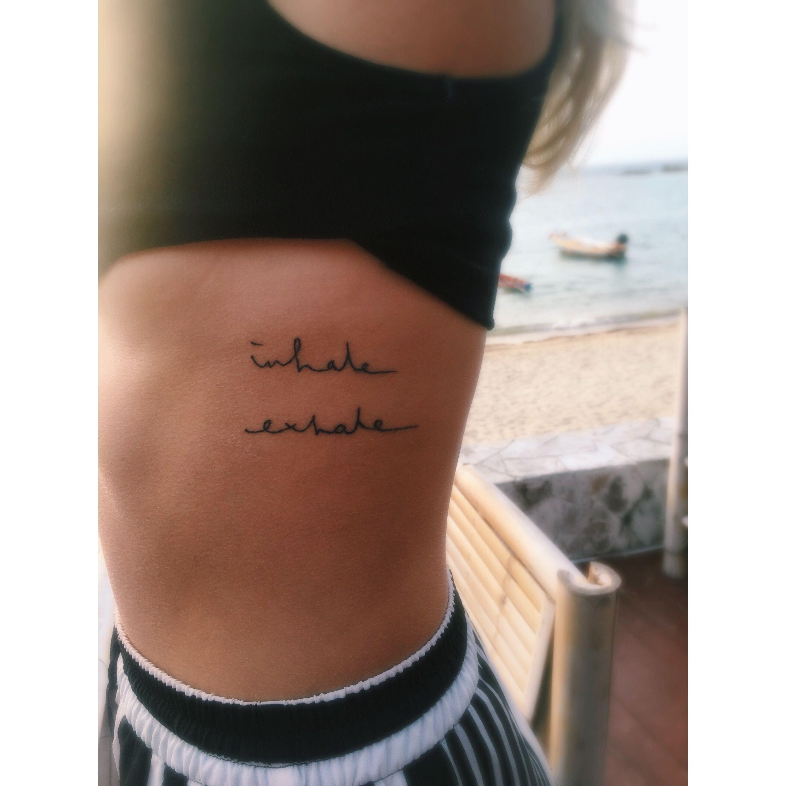 Inhale exhale tattoo #bambootattoo #breathe #inhaleexhale #liveinthemoment