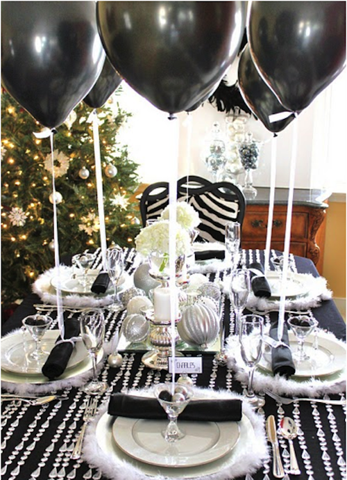 Luxe Lillies December 2010 Winter Party Decorations 50th