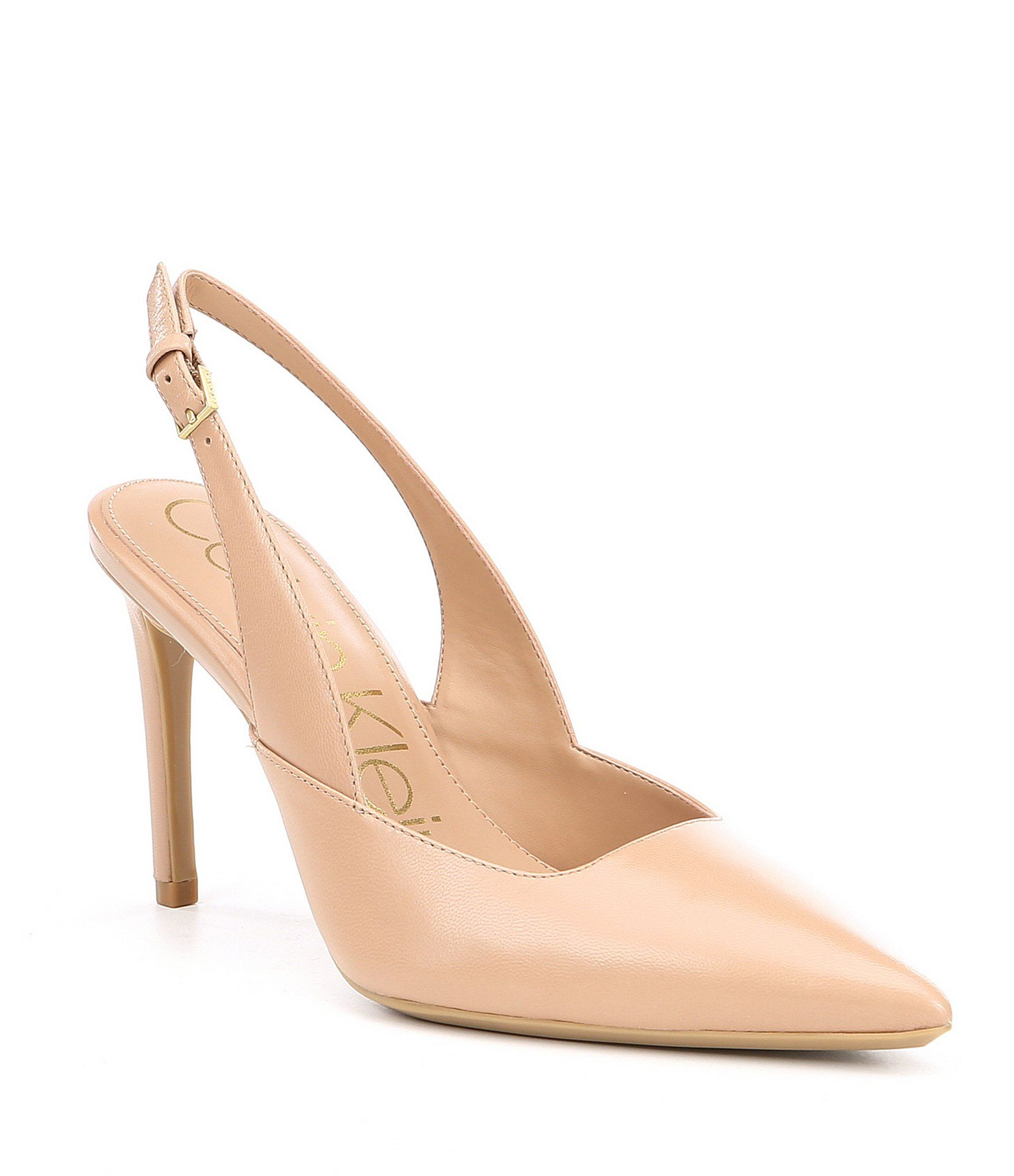 f864337d57a Calvin Klein Rielle Leather Slingback Dress Pumps in 2019 | Fashions ...