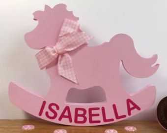 Personalised baby gift rocking horse new baby girl gift baby personalised baby gift rocking horse new baby girl gift baby girl gift negle Gallery