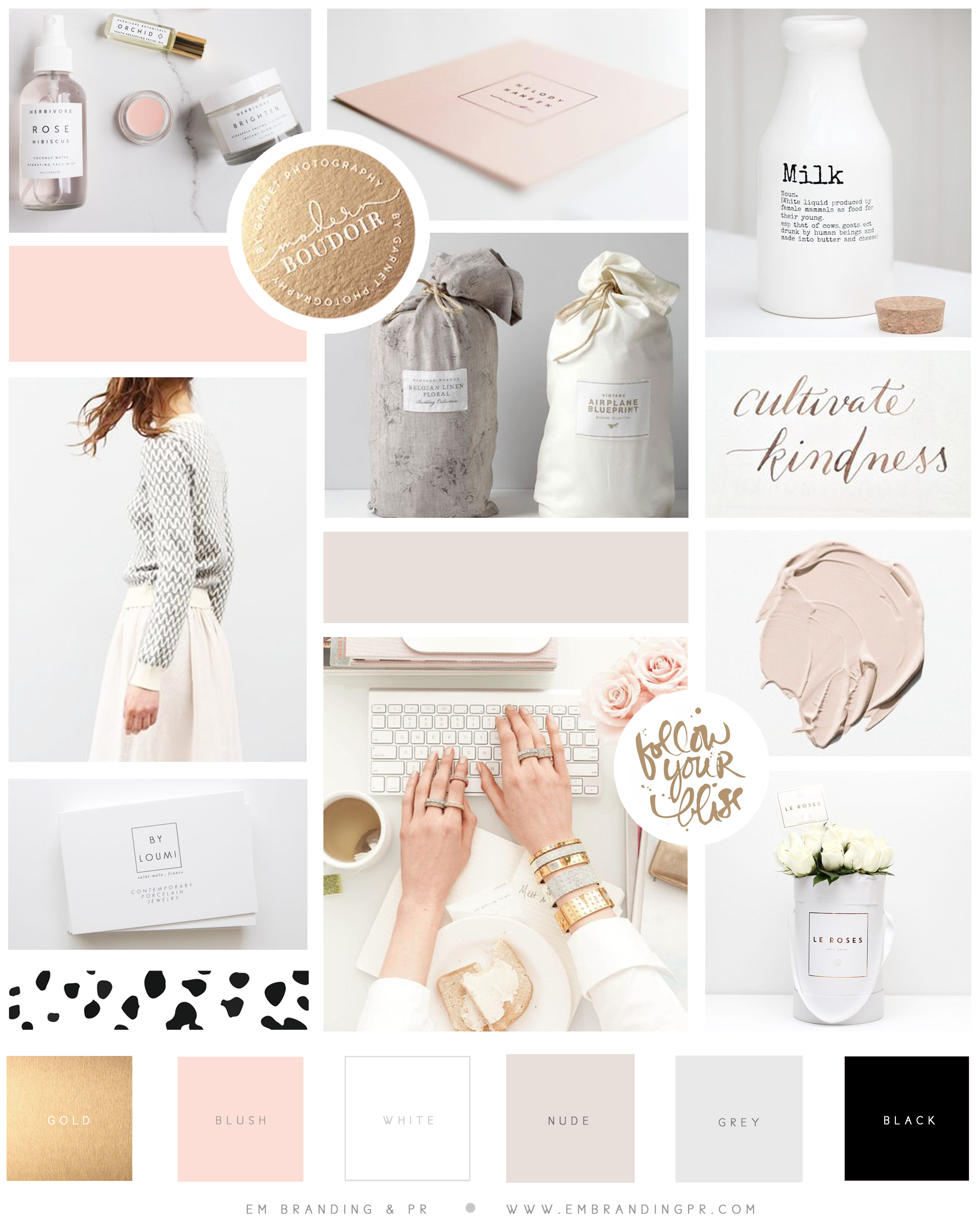 Color Inspiration Board We Created For Our Client, Lucy Celebrates