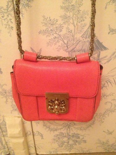 biggest selection new lower prices elegant and graceful Chloe Elsie Carven pink leather mini small crossbody gold ...