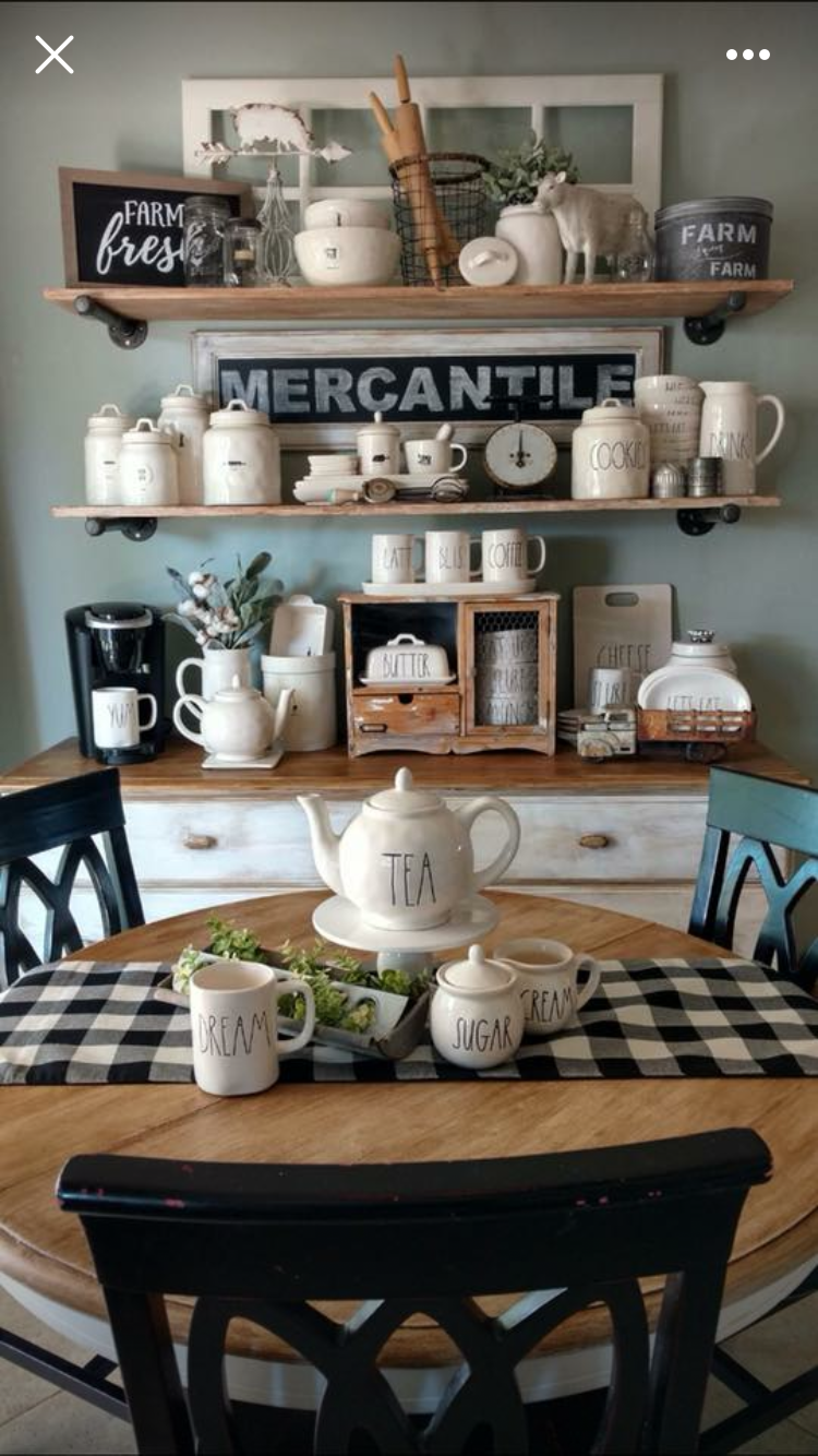Maybe I Should Stop Looking Bc I Just Want More Stuff Coffee Bar Home Farmhouse Dining Kitchen Decor