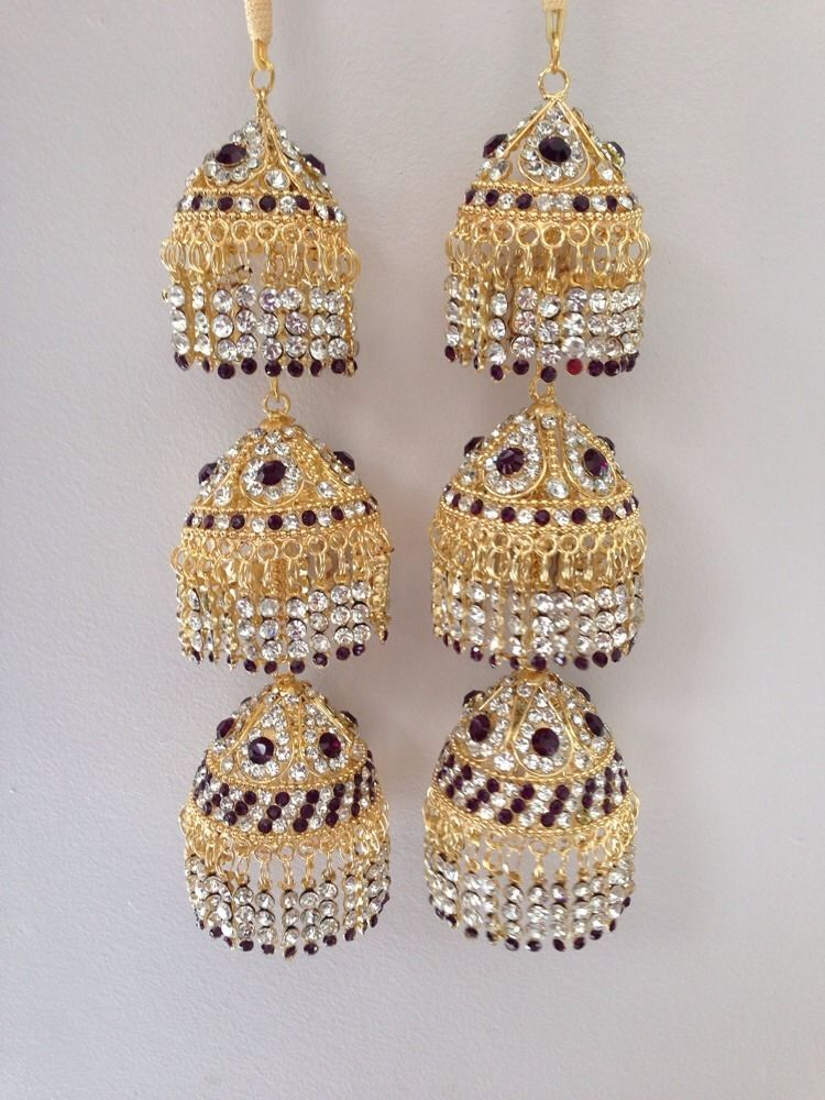 Amazing Indian Asian Wedding Bridal Kaleera Kalira Dark Purple