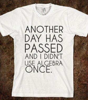 ALGEBRA - glamfoxx.com - Skreened T-shirts, Organic Shirts, Hoodies, Kids Tees, Baby One-Pieces and Tote Bags
