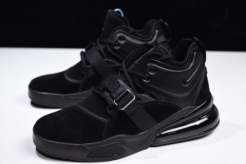 "5313dcf06f 2018 New Nike Air Force 270 ""Triple Black"" AH6772-003 Free Shipping"